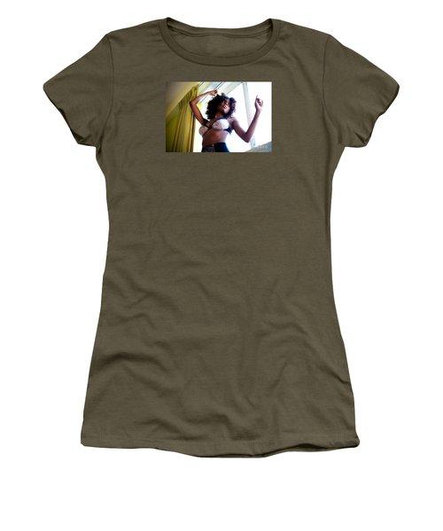 In The Window Women's T-Shirt (Junior Cut) by Gregory Worsham