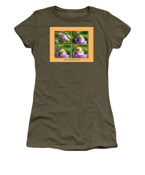 Women's T-Shirt (Athletic Fit) featuring the photograph Into Something Good by AJ Schibig