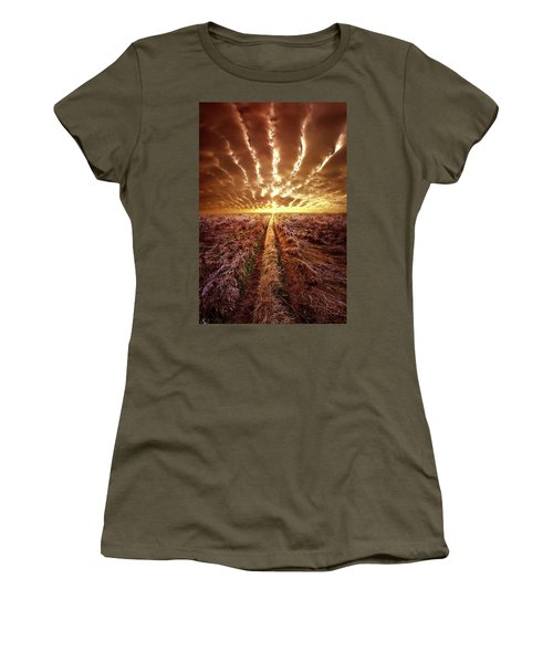 Women's T-Shirt (Junior Cut) featuring the photograph Just Over The Horizon by Phil Koch