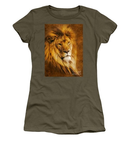 Women's T-Shirt (Junior Cut) featuring the digital art King Of The Beasts by Ian Mitchell