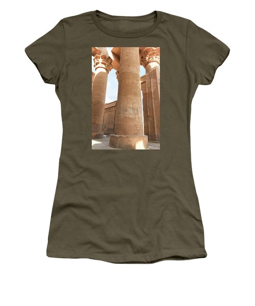 Women's T-Shirt (Athletic Fit) featuring the photograph Kom Ombo Temple by Silvia Bruno