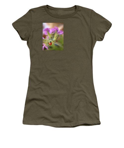 Ladybird Women's T-Shirt (Junior Cut) by Meir Ezrachi
