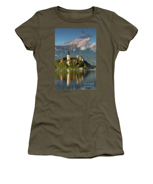 Women's T-Shirt (Junior Cut) featuring the photograph Lake Bled by Brian Jannsen
