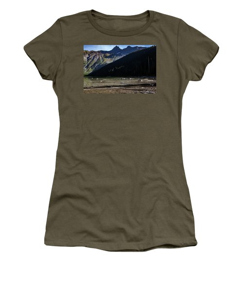 Women's T-Shirt (Athletic Fit) featuring the photograph Late Afternoon On Avalanche Lake by Lon Dittrick