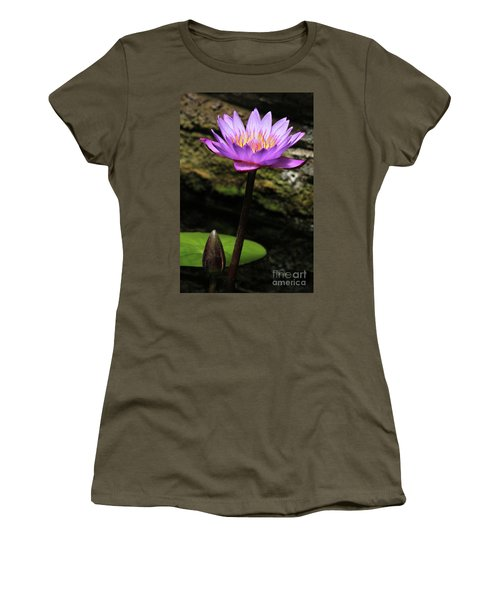 Lavender Water Lily #4 Women's T-Shirt (Athletic Fit)