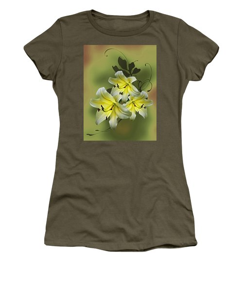 Lily Trio Women's T-Shirt (Junior Cut) by Judy Johnson