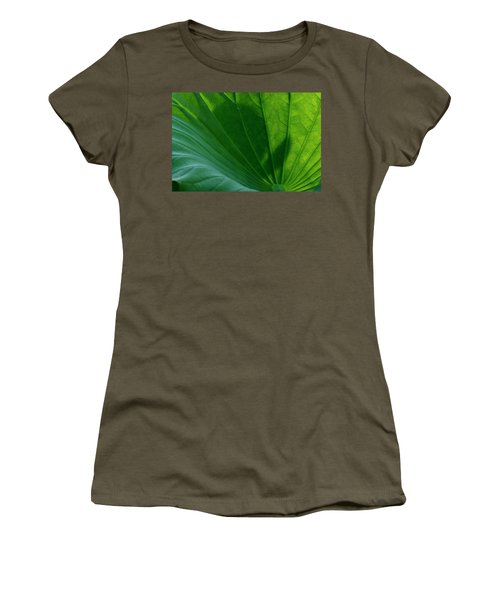 Women's T-Shirt (Athletic Fit) featuring the photograph Lotus Leaf 2017 3 by Buddy Scott