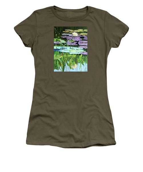 Lotus Reflections Women's T-Shirt (Athletic Fit)