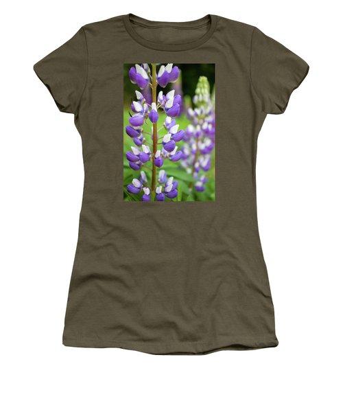 Lupine Blossom Women's T-Shirt (Junior Cut) by Robert Clifford