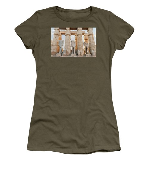 Women's T-Shirt (Athletic Fit) featuring the photograph Luxor by Silvia Bruno