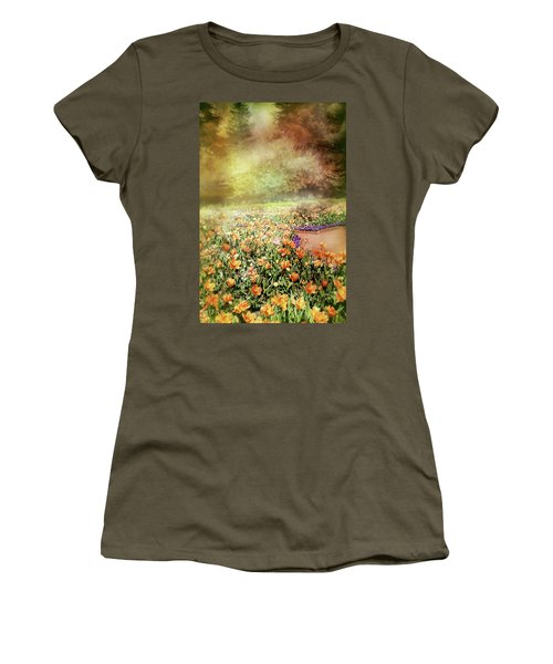 Women's T-Shirt (Junior Cut) featuring the photograph Masquerade by Diana Angstadt