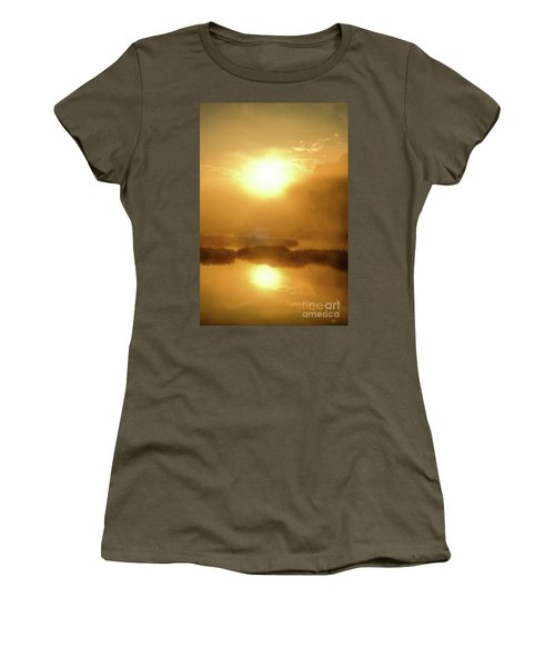 Women's T-Shirt (Junior Cut) featuring the photograph Misty Gold by Tatsuya Atarashi