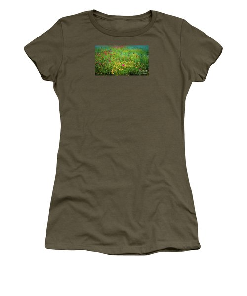 Mixed Wildflowers In Bloom Women's T-Shirt