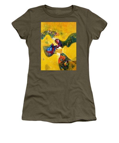 Morning Glory Women's T-Shirt (Junior Cut) by Sanjay Punekar