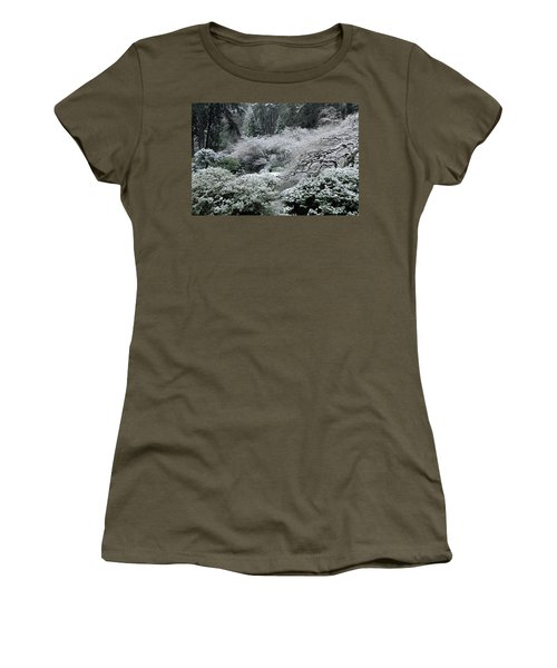 Morning Snow In The Garden Women's T-Shirt