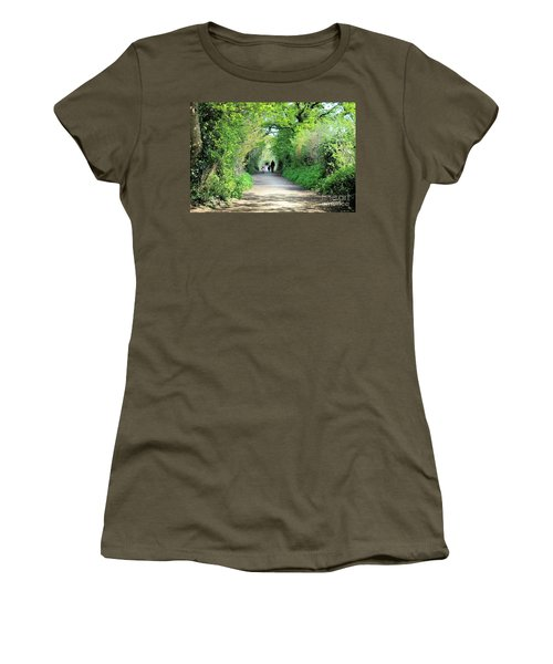 Morning Walk Women's T-Shirt (Junior Cut) by Katy Mei