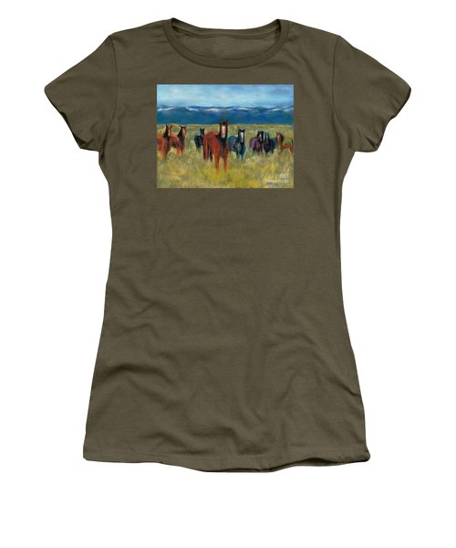 Mustangs In Southern Colorado Women's T-Shirt