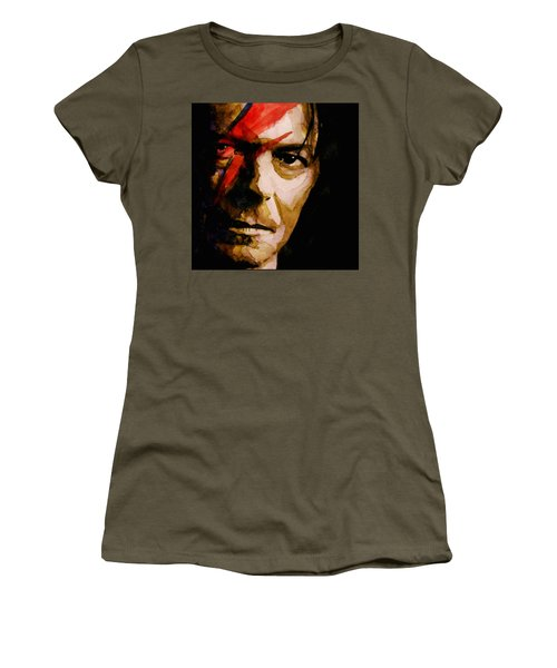 Women's T-Shirt (Junior Cut) featuring the painting Past And Present  by Paul Lovering