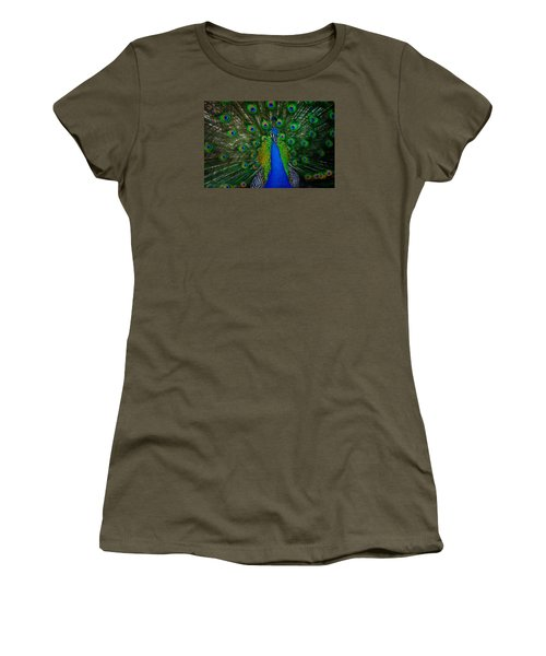 Women's T-Shirt featuring the photograph Peacock by Harry Spitz