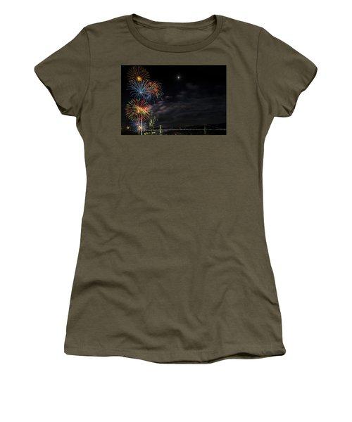 Poughkeepsie Fireworks Image Six Women's T-Shirt (Athletic Fit)