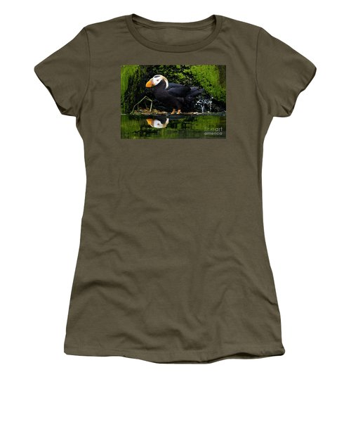 Puffin Reflected Women's T-Shirt (Athletic Fit)