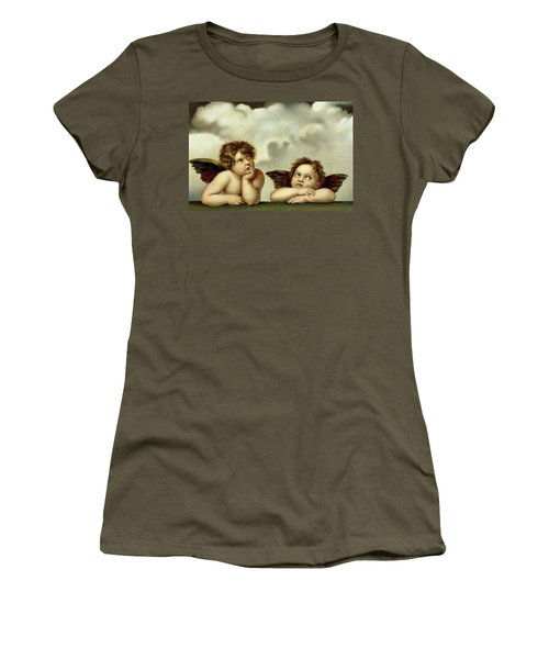 Putti Detail From The Sistine Madonna  Women's T-Shirt