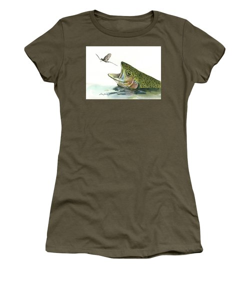 Rainbow Trout Women's T-Shirt (Athletic Fit)