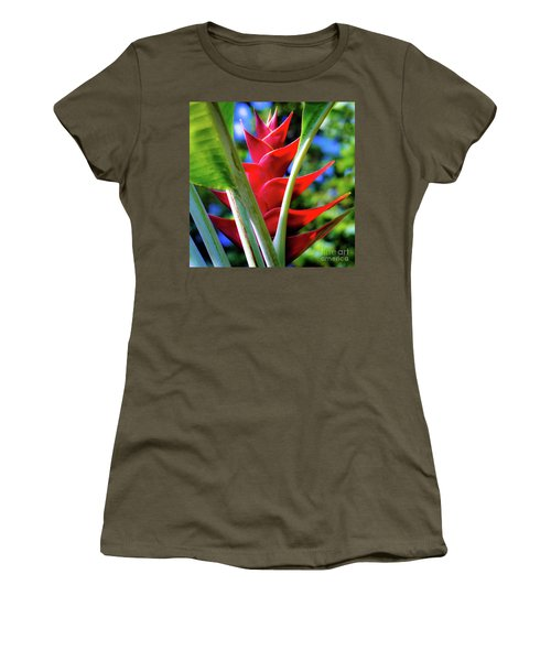 Red Heliconia Hawaii Women's T-Shirt
