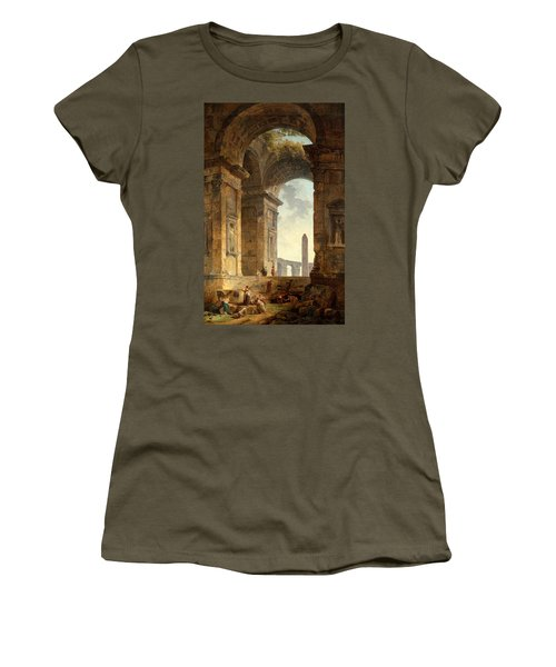 Ruins With An Obelisk In The Distance Women's T-Shirt