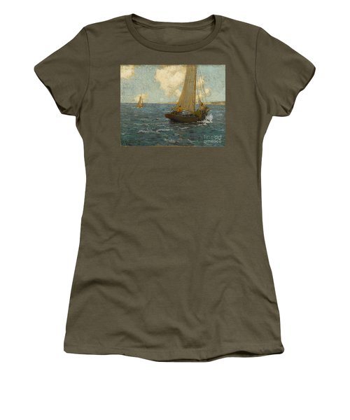 Sailboats On Calm Seas Women's T-Shirt