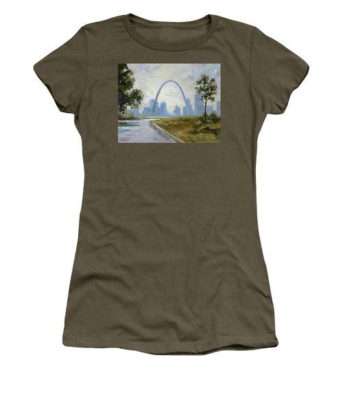 Saint Louis Panorama Women's T-Shirt (Athletic Fit)