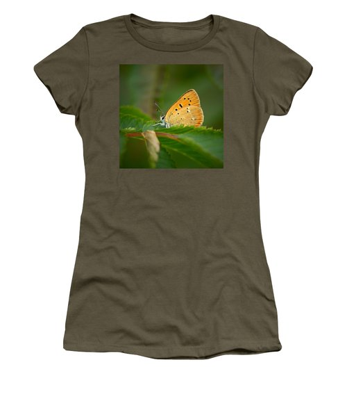 Women's T-Shirt (Junior Cut) featuring the photograph Scarce Copper by Jouko Lehto