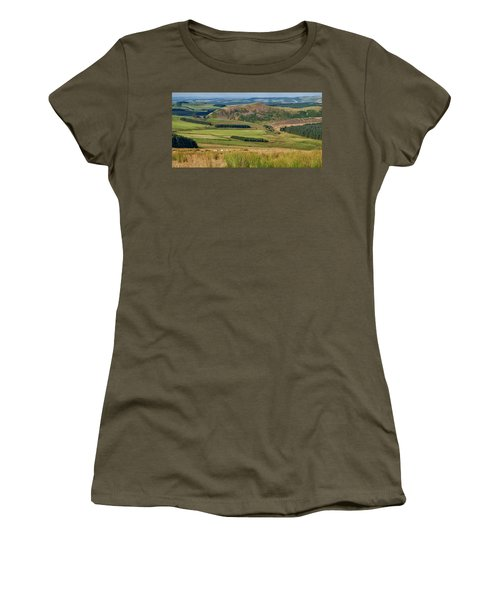 Scotland View From The English Borders Women's T-Shirt (Junior Cut) by Jeremy Lavender Photography