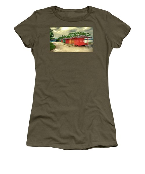 Women's T-Shirt (Junior Cut) featuring the photograph Shacks by Charuhas Images