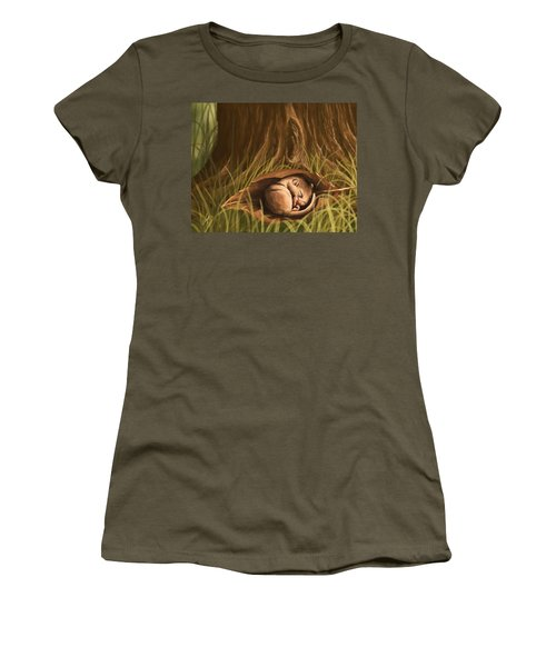 Women's T-Shirt (Junior Cut) featuring the painting Sleeping  by Veronica Minozzi