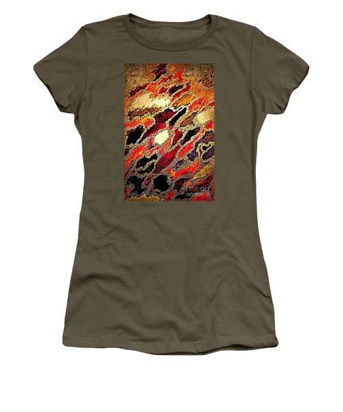 Spirit Journey Through The Fire Women's T-Shirt (Junior Cut) by Rachel Hannah