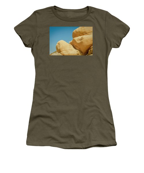 Stacked Boulders Joshua Tree Women's T-Shirt (Athletic Fit)