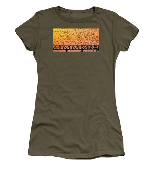 Sunset And Starlings In Aberystwyth Wales Women's T-Shirt