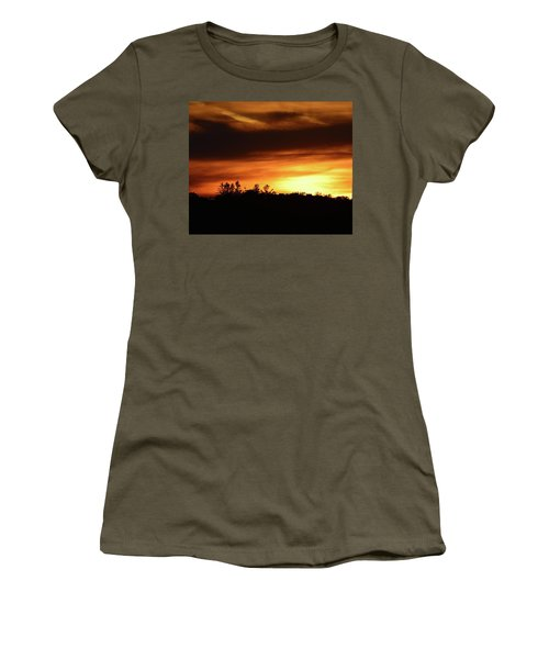 Sunset Behind The Clouds  Women's T-Shirt (Athletic Fit)