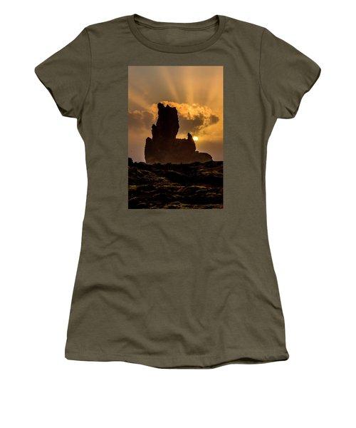 Sunset Over Cliffside Landscape Women's T-Shirt (Junior Cut) by Joe Belanger