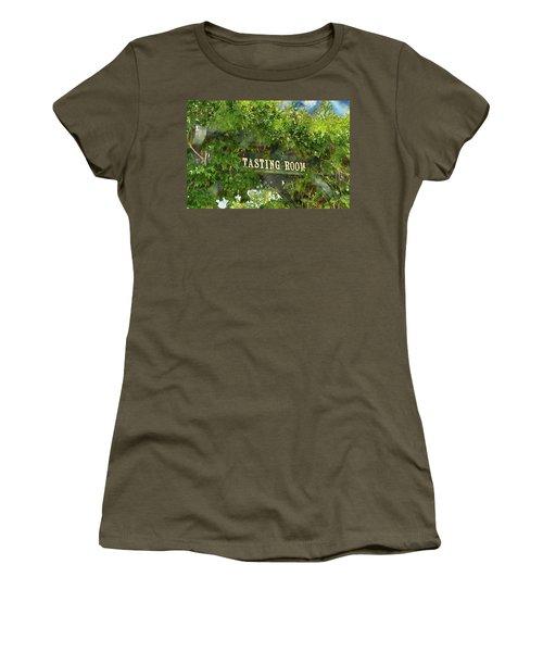 Tasting Room Sign Women's T-Shirt