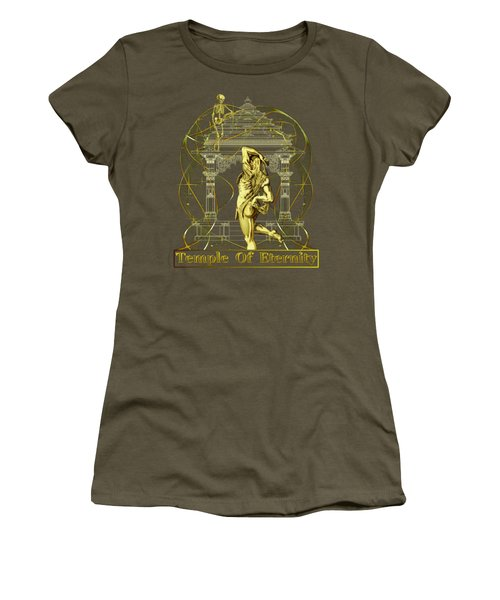 Temple Of Eternity Women's T-Shirt (Junior Cut) by Robert G Kernodle