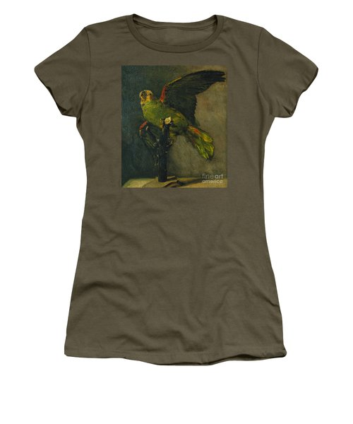 The Green Parrot Women's T-Shirt (Athletic Fit)