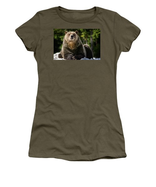 The Grizzly Bear Grinder Women's T-Shirt (Athletic Fit)