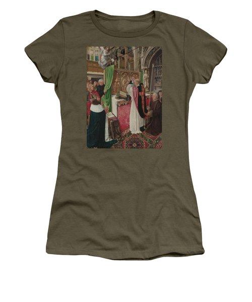 The Mass Of Saint Giles Women's T-Shirt (Junior Cut) by Master of Saint Giles