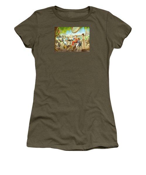 The Palace Garden Tea Party Women's T-Shirt (Junior Cut) by Reynold Jay