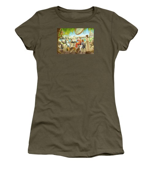 The Palace Garden Tea Party Women's T-Shirt (Athletic Fit)