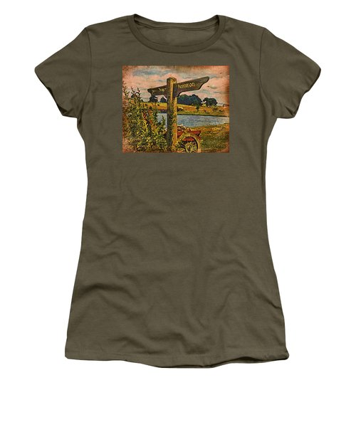 Women's T-Shirt (Junior Cut) featuring the digital art The Road To Hobbiton by Kathy Kelly