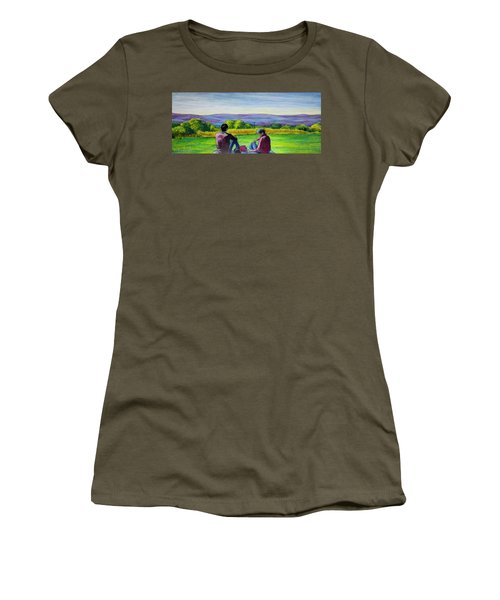 Women's T-Shirt (Junior Cut) featuring the painting The View by Ron Richard Baviello