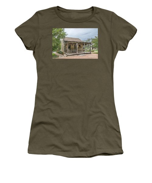 Town Creek Log Cabin Women's T-Shirt (Athletic Fit)